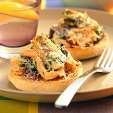 Open-Faced Tuna and Artichoke Melt