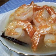 Tahitian shrimp in vanilla coconut sauce