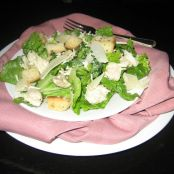 Caesar Style Salad with Rotisserie Chicken Recipe