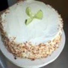 Six Layer Key Lime and Coconut Cake