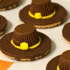 Thanksgiving Pilgrim Hat Cookies