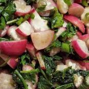 Lemony Kale and Radish Saute