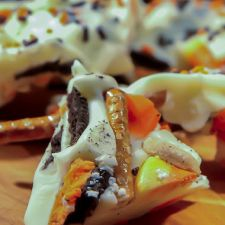 Halloween Cookie & Candy Corn Bark