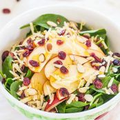Apple, Cheddar and Spinach Salad with Honey-Apple Cider Vinaigrette
