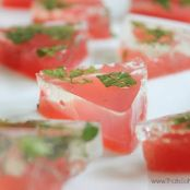 Watermelon Mojito Jell-O Shots
