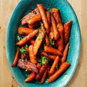 Roasted Carrots with Cumin & Cinnamon
