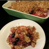 Peach, Rhubarb and Ginger Crisp