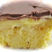 4-Ingredient Boston Cream Poke Cake