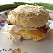 Homemade Bacon Egg and Cheese Biscuit