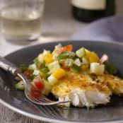 Parmesan-Crusted Tilapia with Cucumber, Tomato, & Fennel Relish