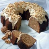 Old-Fashioned Apple Sauce Cake with Caramel Apple Glaze