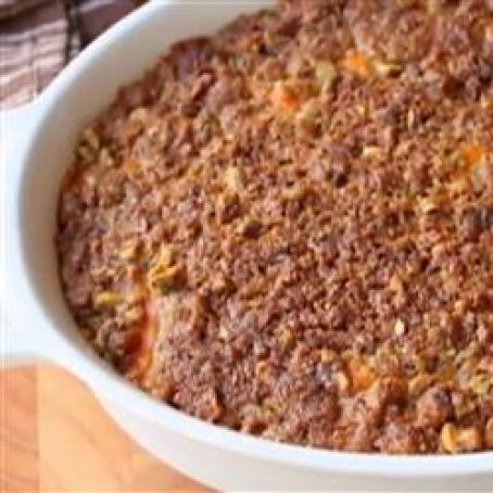Sweet Potato Casserole with Pistachio Crust