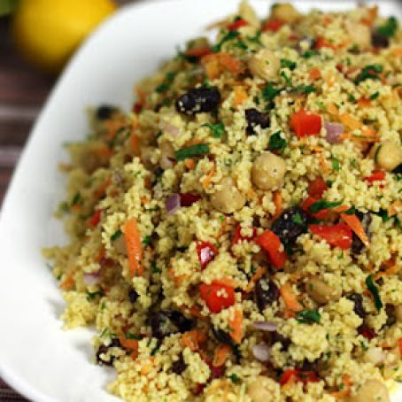 Moroccan Chickpea & Couscous Salad