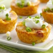 Cheesy Au Gratin Potato Cupcakes