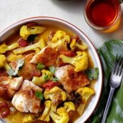 Chili-Rubbed Halibut With Cauliflower Curry