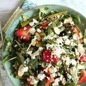 Springtime Asparagus, Strawberry, & Arugula Salad