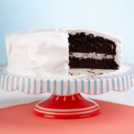 Chocolate Cake with Divinity Icing