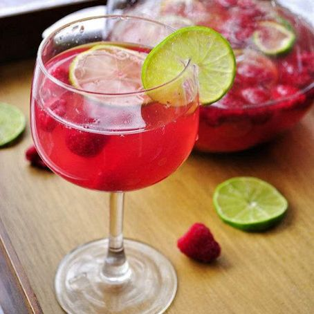 Raspberry Lime Sangria