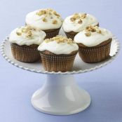 Carrot Cake Cupcakes with Lemon Cream Cheese Frosting
