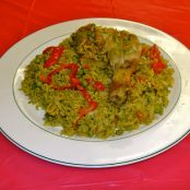 Rice with Chicken (Peruvian Arroz con Pollo)