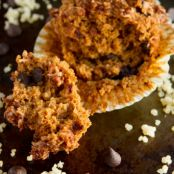 Sweet Potato Chocolate Chip Quinoa Crumble Muffins