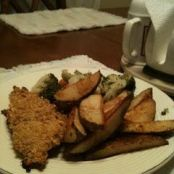 Crunchy Baked Fish with Homemade Potato Wedges