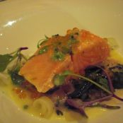Salmon Tournedos Poached in Beurre Monté