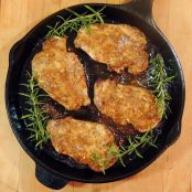 Honey Mustard Pork Chops with Rosemary and Garlic