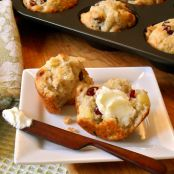 Apple, Cranberry & Cheddar Muffins