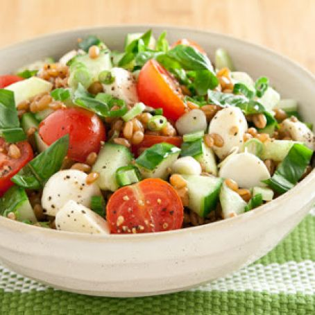 Tomato, Cucumber and Bocconcini Grain Salad