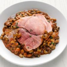 Slow Cooker Barbecue Ham & Black-Eyed Peas