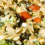 Cheesy pasta and veggies