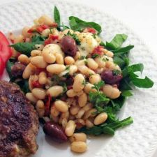 Tuscan White Bean Salad with Spinach, Olives, & Sun-Dried Tomatoes