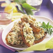 Lemony White Bean Bruschetta