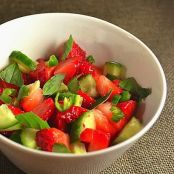 Strawberry Cucumber Salsa with Basil and Lime