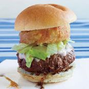 Big Beef Burgers with Crunchy Sour Cream Onions