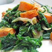 Roasted Yam & Kale Salad