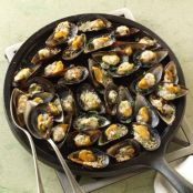 MUSSELS: Mussels on the Half Shell with Parmesan and Garlic