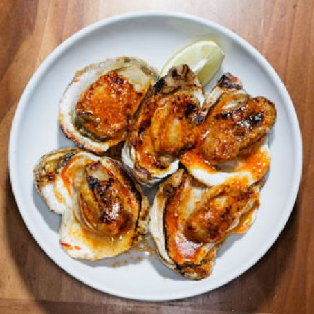 Grilled Oysters with Chile Butter Recipe - (4 2/5)