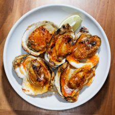 Grilled Oysters with Chile Butter