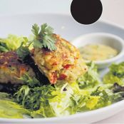 Lobster Cakes with spicey Cilantro Mayo
