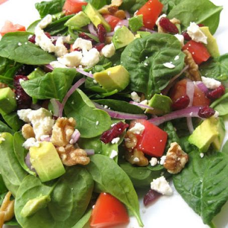 Harvest Salad with Raspberry Walnut Vinaigrette