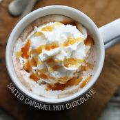 Slow-cooker Sea Salt Caramel Hot Chocolate