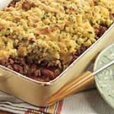 Chili Beef Stuffing Bake