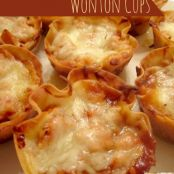 BBQ-Ranch Chicken Wonton Cups