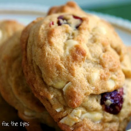 Cranberry White Chocolate Almond Cookies