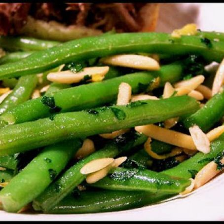 Stringbeans with Almonds and Lemon