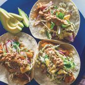 Spicy Fish Tacos with Pineapple Slaw