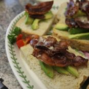 Bacon Avocado Toast with Maple Syrup Drizzle