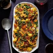 Cornbread Stuffing With Wilted Greens & Chorizo